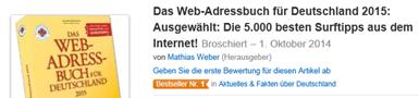 Bestseller Nr. 1 in Aktuelles & Fakten über Deutschland bei Amazon!