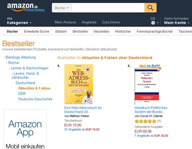 Bestseller Nr. 1 in Aktuelles & Fakten �ber Deutschland bei Amazon!