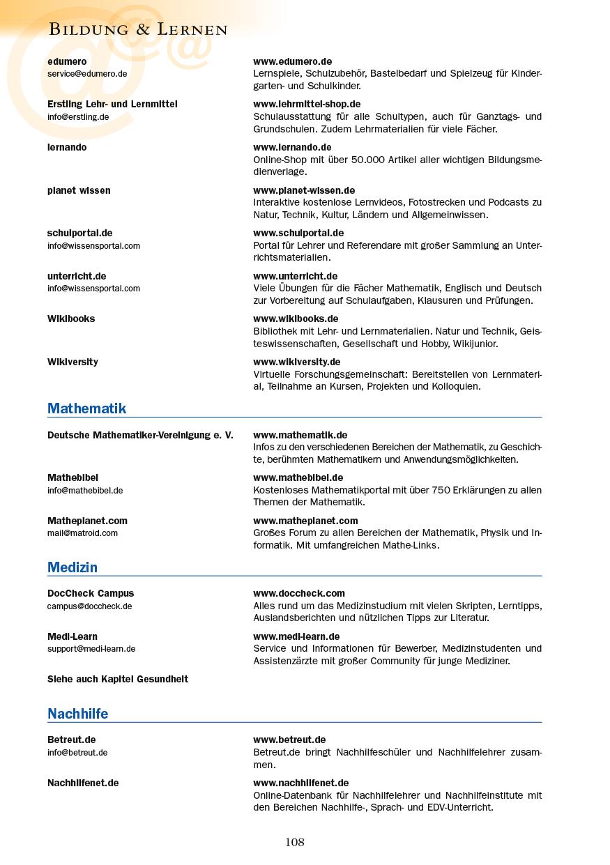 Bildung & Lernen - Seite 108