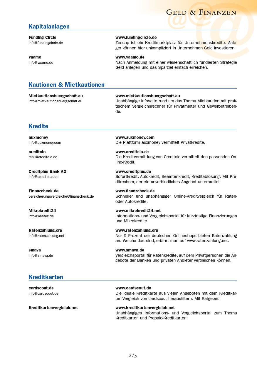 Geld & Finanzen - Seite 273