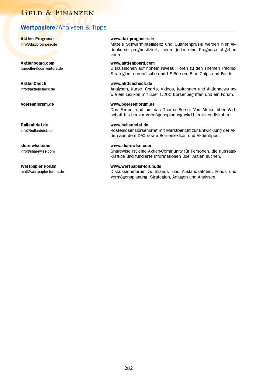 Geld & Finanzen - Seite 282