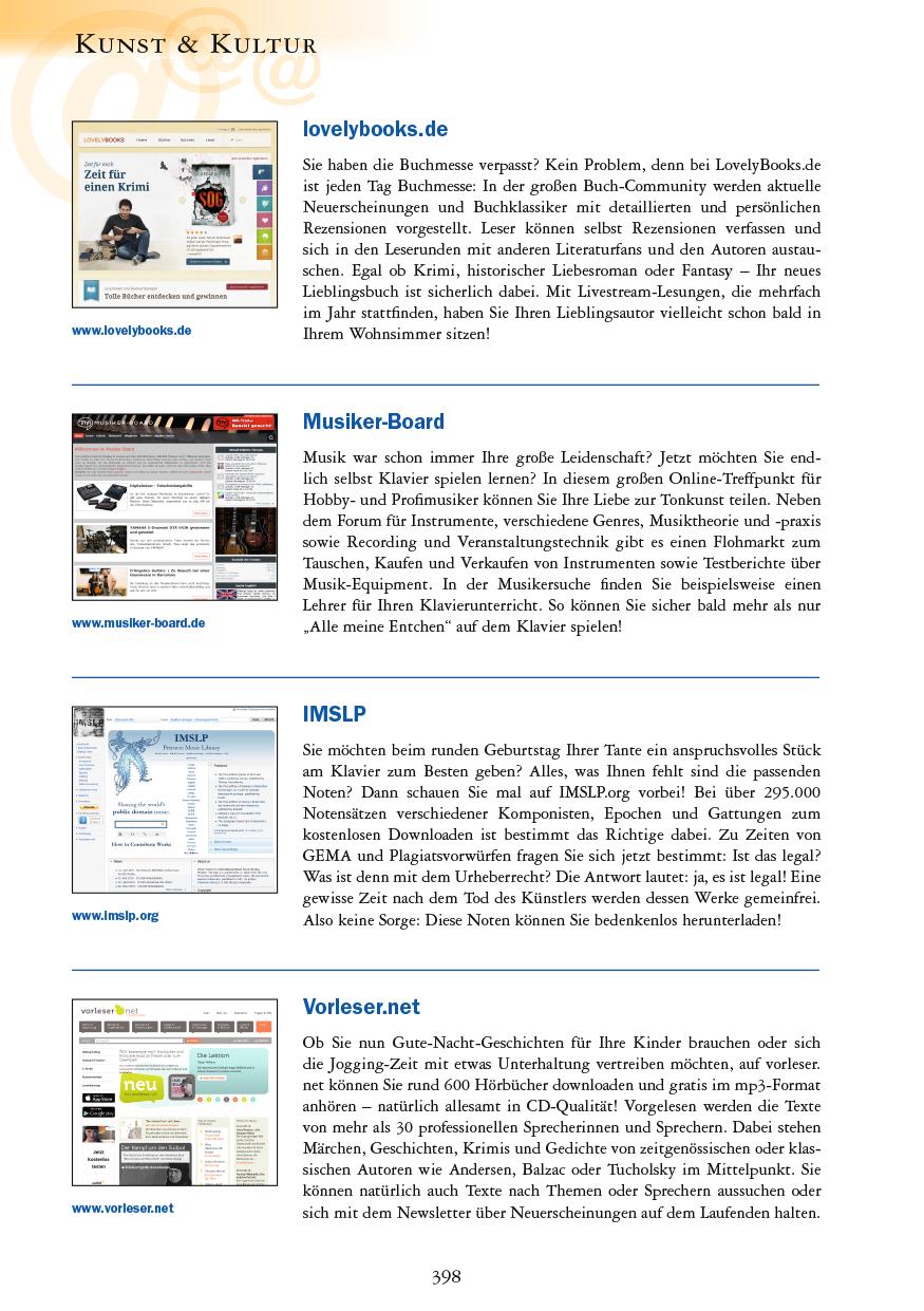 Kunst & Kultur - Seite 398