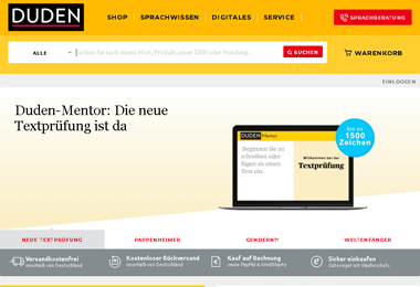 Duden-Website