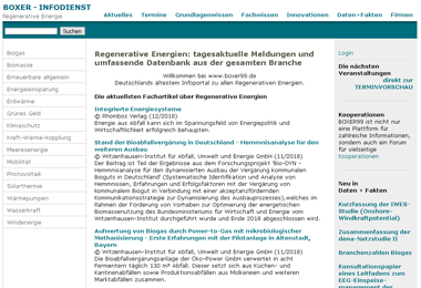 BOXER-Infodienst: Regenerative Energie